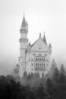 germany castle in the mist